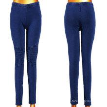 Buenas chicas elásticas de color azul oscuro Denim Leggings