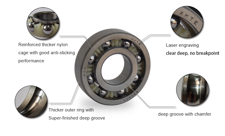 Nylon Cage Bearing Feature