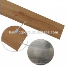 Suelo de PVC de vinilo de madera interior de los tablones de grano de madera