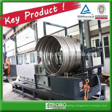 Spiral corrugated steel culvert pipe forming machine
