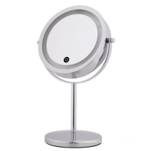 2017 hot new products touch screen switch makeup mirror with LED light