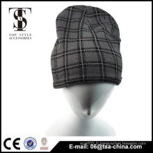 Hommes hiver à la mode vérifié chapeau noué
