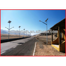 Solar panel lamp post