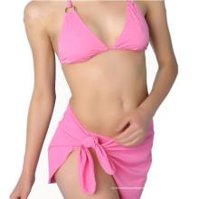Maillot de bain bleu rembourré pour femmes sexy Bikini push up