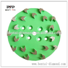 "Premium 10"" professional Concrete Grinding Head For Edco Floor Grinder-20 Arrow Segments For Leveling"