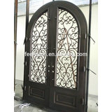 Artistic iron entrance door grill for home design