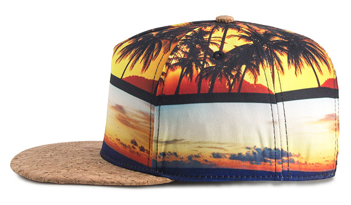 Sublimation Printing Hip Hop Cap Side