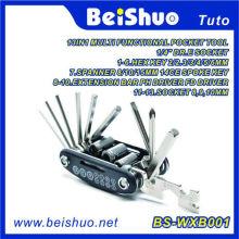 Outil de poche multifonction 13-en-1 pour la réparation de vélos