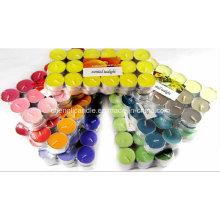 Bougie parfumée de bougie de couleur de 36PCS emballée par enveloppe de rétrécissement