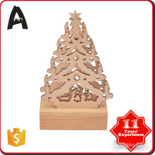 All-season performance shapes christmas tree wooden craft LED lamp