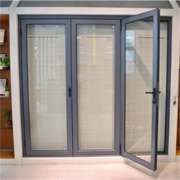 Aluminum Swing Doors with Stainless Security Screen