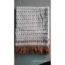 Melhor Qualidade de Cashmere Jacquard Shawl -Knitting