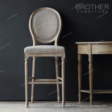 Chaise de bar en velours de style français vintage
