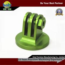 Piezas que trabajan a máquina del CNC del aluminio del CNC de la vuelta eléctrica anodizada verde del CNC
