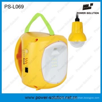 Power Solution 4500mAh / 6V Solar Power wiederaufladbare Laterne mit Handy-Ladegerät