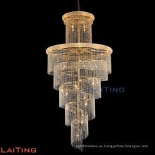 Lámpara de cadena interior de iluminación lámpara de escaleras de cristal 61004