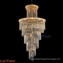 Indoor chain chandelier lighting crystal stairs lamp 61004