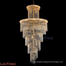 Indoor chain chandelier lighting crystal stairs lamp 61004