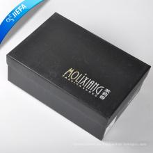 Caja de papel del regalo del papel revestido del color negro de la venta caliente