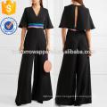 Satin-trimmed Silk Jumpsuit Manufacture Wholesale Fashion Women Apparel (TA3003J)