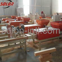 Wood waste recycling machine to make pallet block
