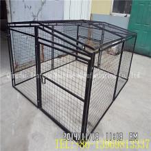 Gaiola econômica de venda quente do animal de estimação da gaiola do cão da rede de arame da porta dobro