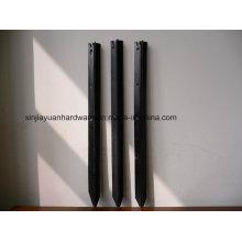 Poteau de grille noire peintée au bitume noir / Piquet à étoiles