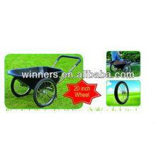 Carretilla de jardín con bandeja de plástico de 2 ruedas