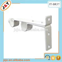 white double metal curtain rod bracket