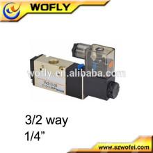 """1/8 """"1/4"""" China Electroválvula neumática de 3/2 vías 110v"""