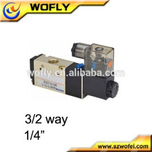 "1/8"" 1/4"" China 3/2 way pneumatic solenoid valve 110v"