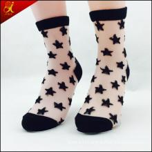 Women Wear Transparent Ankle Socks