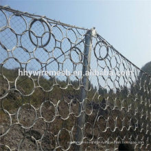 factory produce rock fall netting hot dipped galvanized rockfall barrier