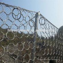 фабрика производит камнепад сетки горячая окунутая гальванизированная камнепад барьер