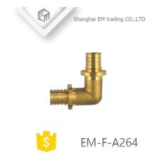 EM-F-A264 Messing Durchmesser männlichen kreisförmigen Zahn Winkel Rohrfitting 90 Grad
