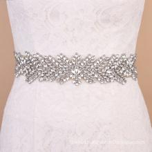 Long trims luxurious crystal wedding sash applique for decoration RH1042