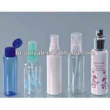 70ml 75ml 80ml 100ml emballage cosmétique bouteille en plastique PET pulvérisateur