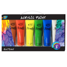 FAST-Drying ACRÍLICO PAINT A0132, CORES BRILHANTES