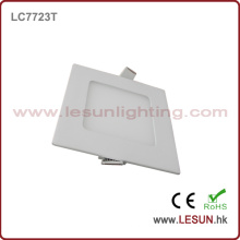 Aprobación del CE 6W Square Slim LED luces del panel / lámpara plana LC7724t