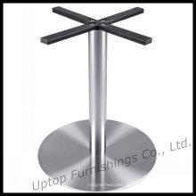 Base de mesa redonda brilhante em aço inoxidável (SP-STL104)