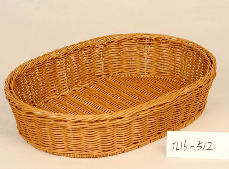 plastic rattan storage basket