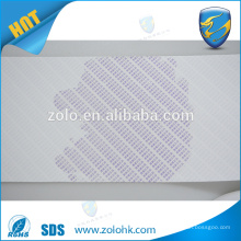 Water indicate fragile eggshell sticker destrucible sticker with watermarks for double security sticker