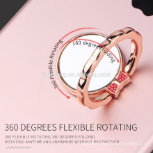 Factory promotion mirror flower Ring Mobile Phone ring Holder Finger Grip for Smart Phone