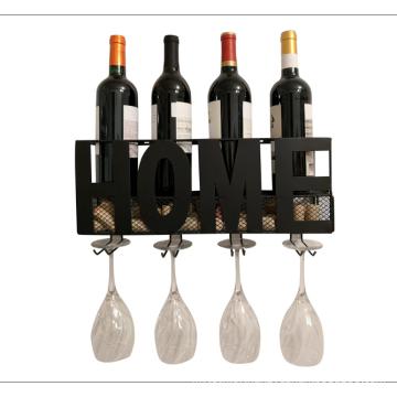 High quality  display  racks home metal wall mounted wine rack and cork holder