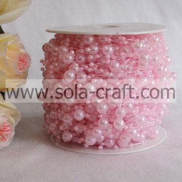 57M Imitation Pearl Beaded Garland by Roll for Wedding Decoration
