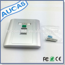 2015 New Design RJ45 cat5e cat6 America cable face plate Network wall outlet one port wall plate