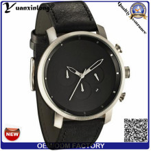 Yxl-379 Simple Design Military Watch Bracelet en cuir Mvmt Quartz Vogue Trendy Wristwatch Montres Hommes Vente en gros
