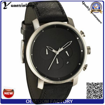 Yxl-379 Простой дизайн военных часов кожаный ремешок Mvmt кварцевые модные модные наручные часы мужские часы оптом