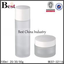 Frascos y tarros cosméticos de la loción del vidrio 100ml, botellas de empaquetado vacías, botella cosmética de la loción del cuidado de la piel