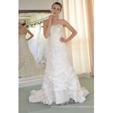 EN STOCK Vestido de fiesta de las mujeres de vestir de fiesta de hombro de las mujeres de seda verdadera plisados vestido SE88